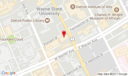 Map to 5057 Woodward
