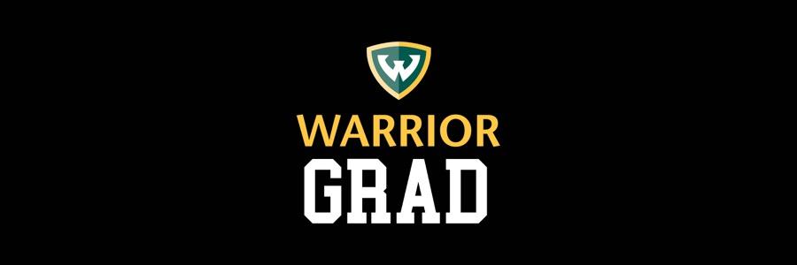 Black background with Warrior Grad text