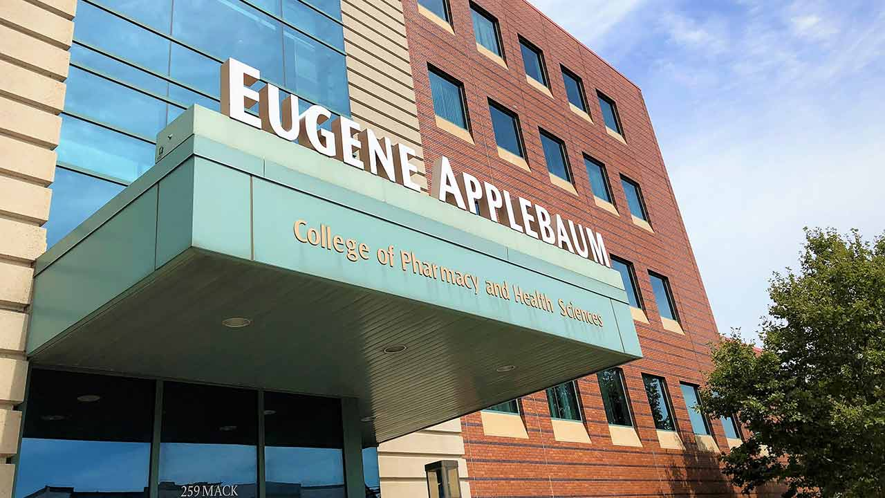 Eugene Applebaum College of Pharmacy and Health Sciences building