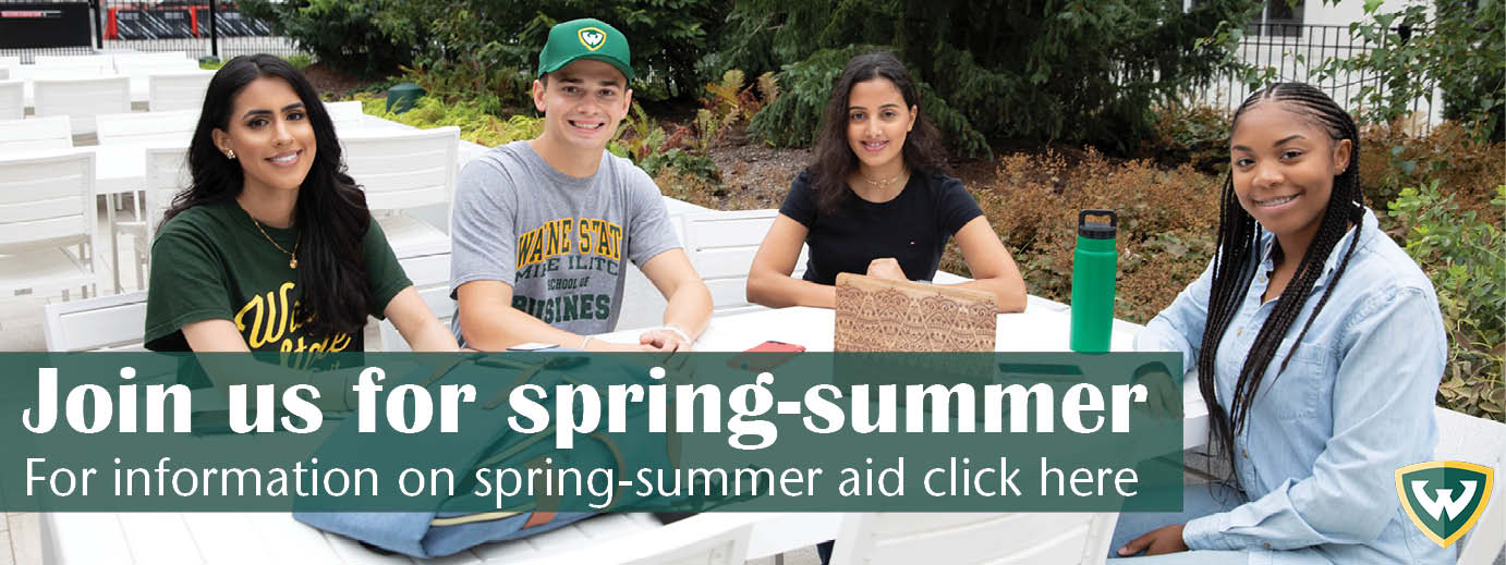 Join us for spring-summer. For more information on spring-summer aid click here.