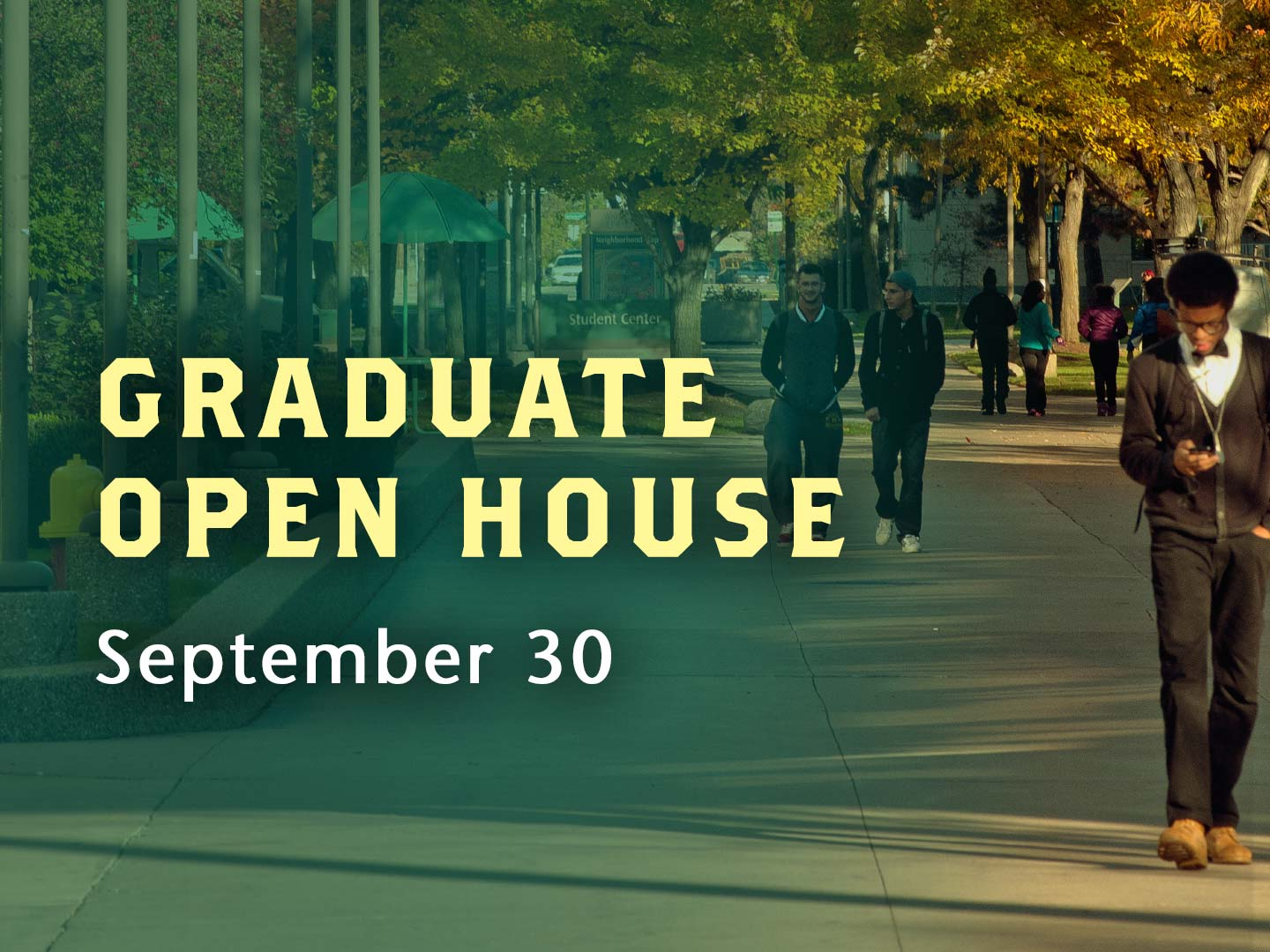 Meet with program representatives, get financial aid information, take a campus tour and more.
