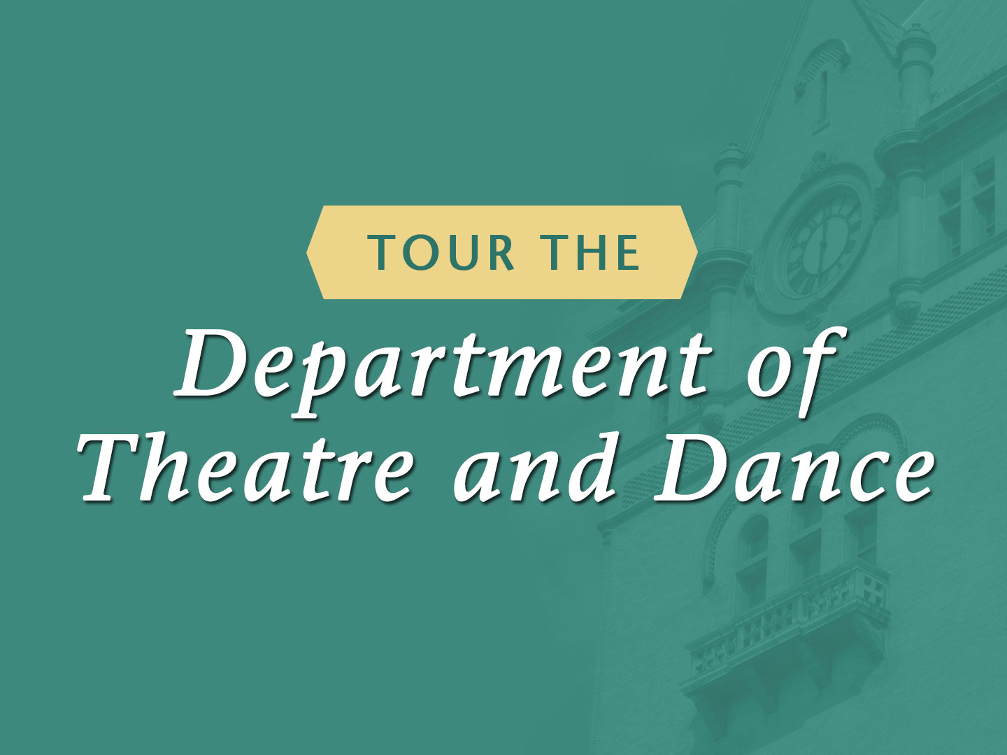 Wayne State University College of Fine and Performing Arts tour the Department of Theatre and Dance