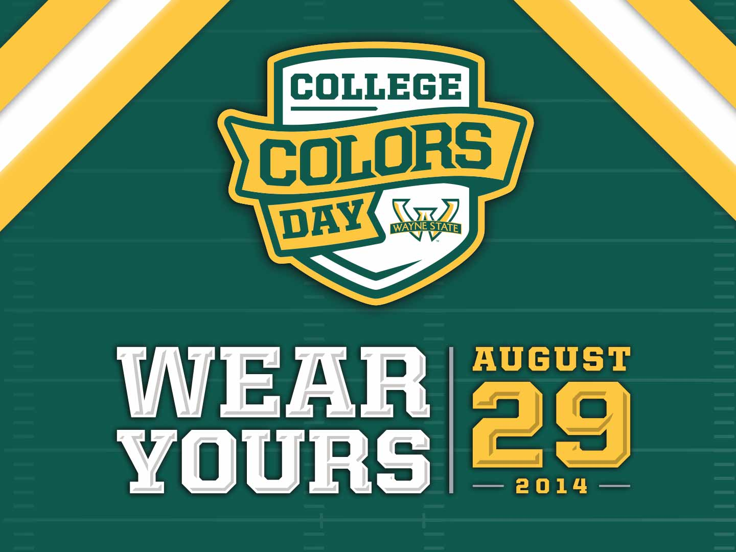 Show your Warrior pride and wear green and gold!