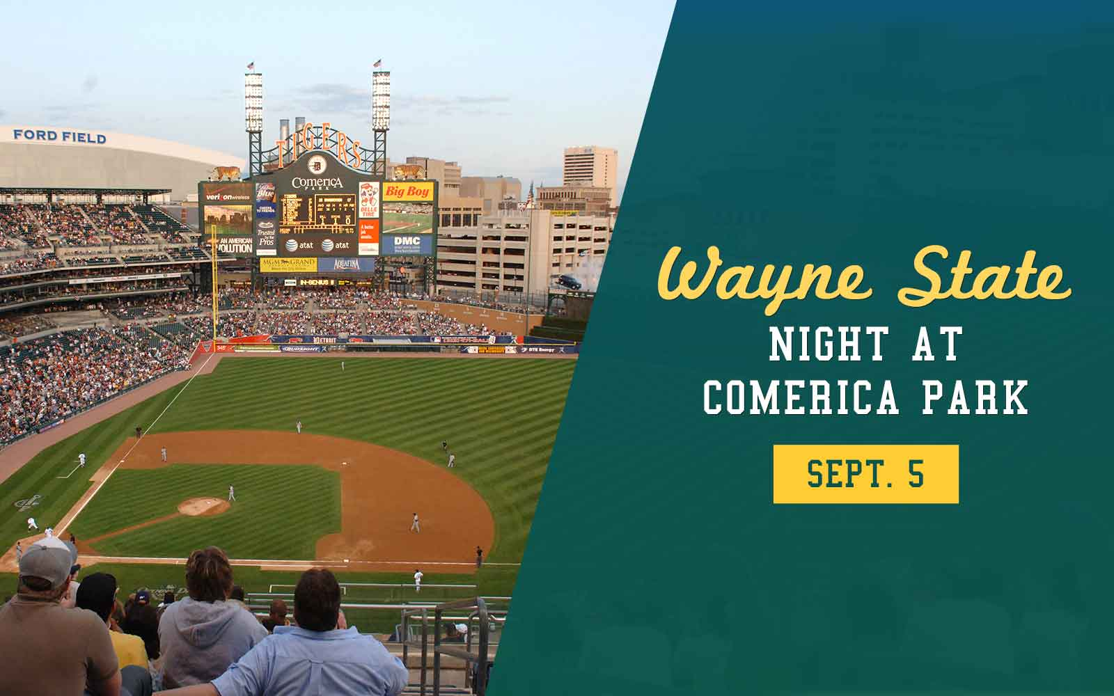Come cheer the Tigers on to victory over the Kansas City Royals at the third annual Wayne State Night!