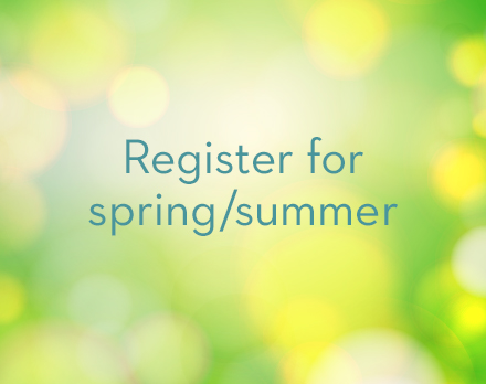 Register for spring/summer classes