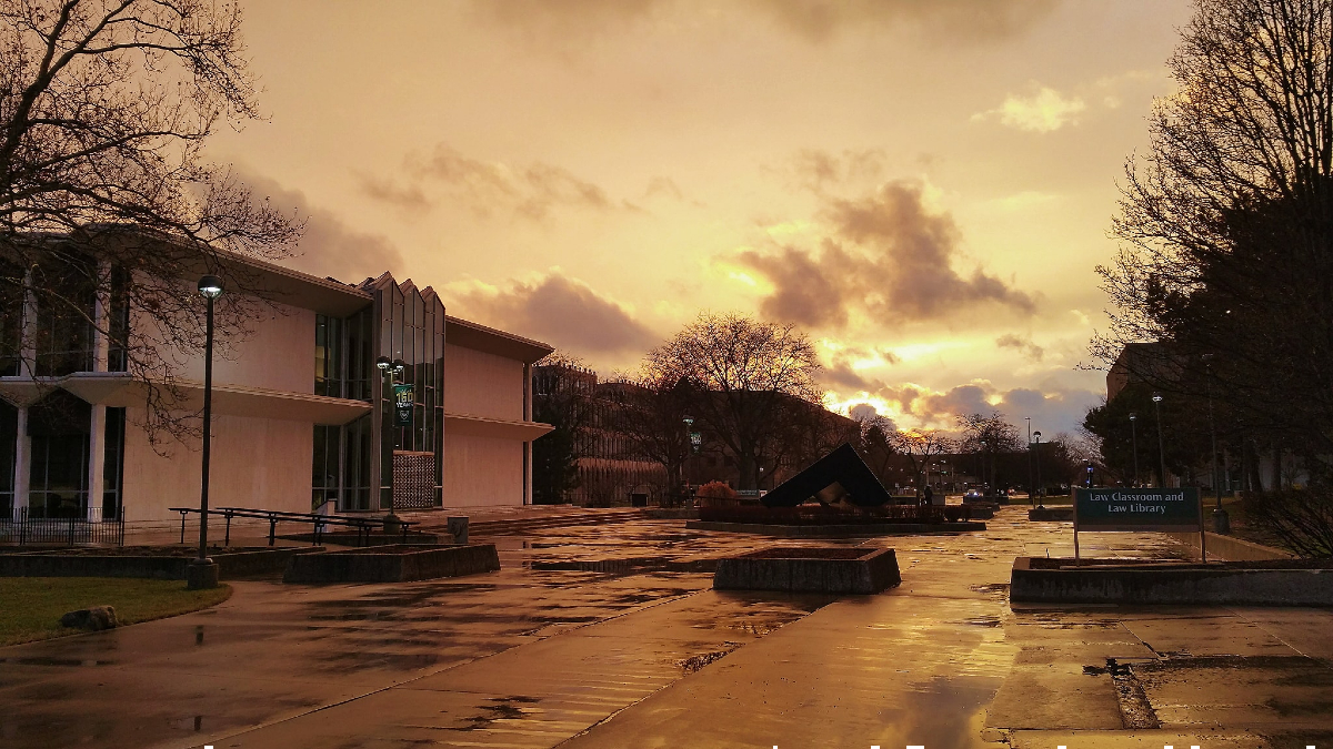 Photo of the Day for April 11, 2021 - Campus after a spring storm!