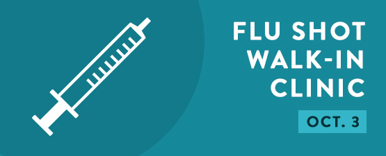 Flu shot walk in clinic at Campus Health Center