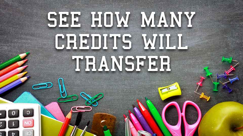 See how many credits will transfer