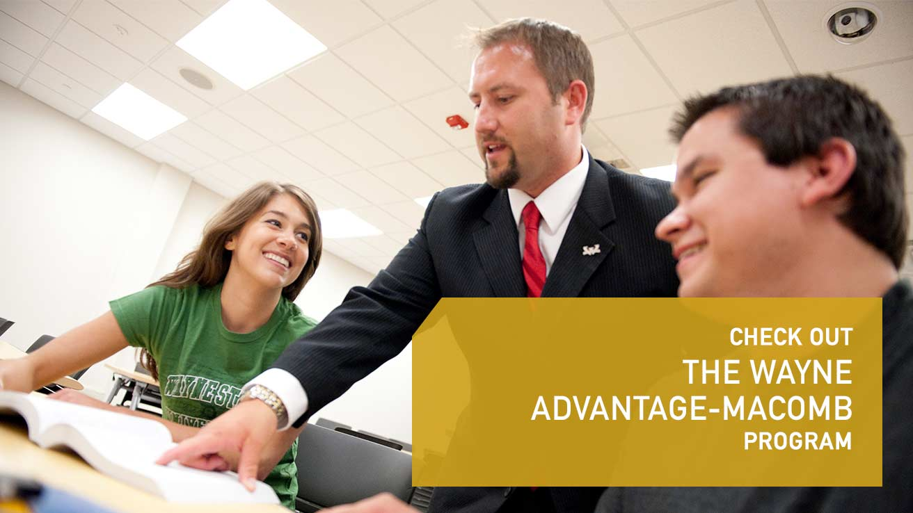 Check out the Wayne Advantage-Macomb program