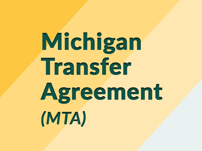 Michigan Transfer Agreement (MTA)
